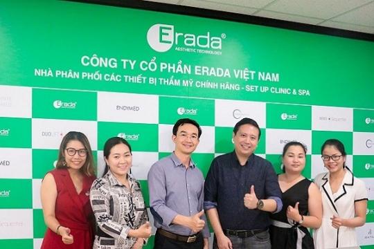 Nhà sáng chế Esthewhite và Estheshield tổ chức buổi đào tạo sản phẩm tại Erada Việt Nam